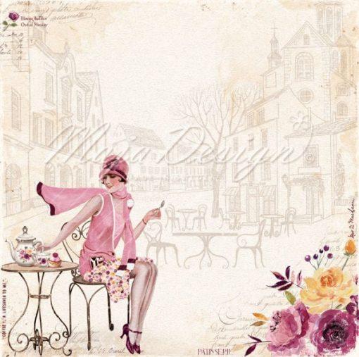 "Collezione Mista Little Street Café- Cartoncino 12x12"" (18 pezzi)"