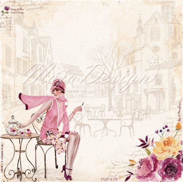 Collezione Little Street Café- Cartoncino 12x12