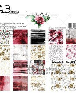 """Diary - Blocchetto Cartoncino 12x12"""" (8 fogli)"""