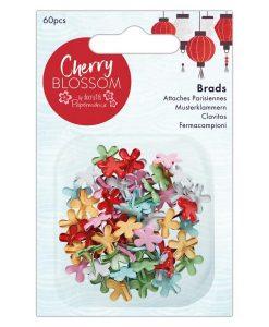 Fiori di ciliegio - brads fermacampioni (60 pezzi)