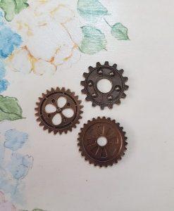 Gears 30mm - abbellimento in metallo (3 pezzi)