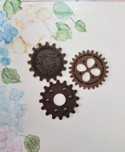 Gears 40mm - abbellimento in metallo (3 pezzi)