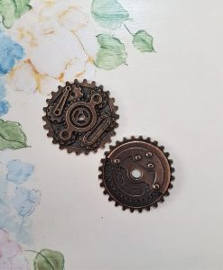 Gears assembly - abbellimento in metallo (2 pezzi)