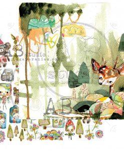 Magic whispers of fairytales - Blocchetto Cartoncino 12x12