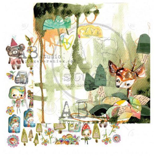 """Magic whispers of fairytales - Blocchetto Cartoncino 12x12"""" (7 fogli)"""