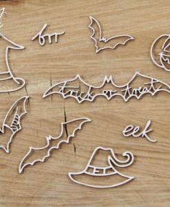 Pipistrelli - elemento fustellato (10 pezzi)