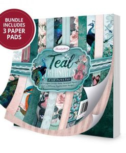 Teal Treasures - Blocchetto cartoncino da 48 fogli