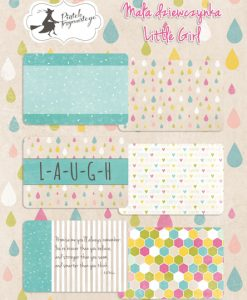 Little girl - Set di Journaling Cards 6x4