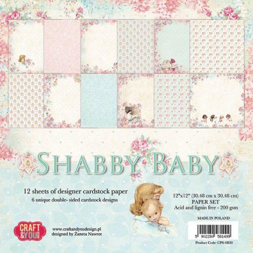 Shabby Baby - Blocchetto Cartoncino 12x12