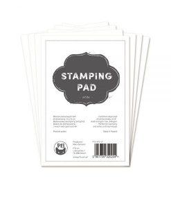 "Stamping Pad Bianco - Blocchetto Cartoncino 6x4"""