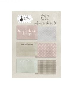 Welcome to the World (Nascite) - Set di Journaling Cards 6x4""