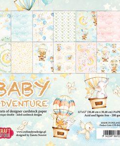 Baby Adventure - Blocchetto Cartoncino 12x12 (12 fogli)
