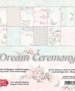"Dream Ceremony - Blocchetto Cartoncino 12x12"" (12 fogli)"