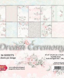 """Dream Ceremony - Blocchetto Cartoncino 6x6"""" (36 fogli)"""