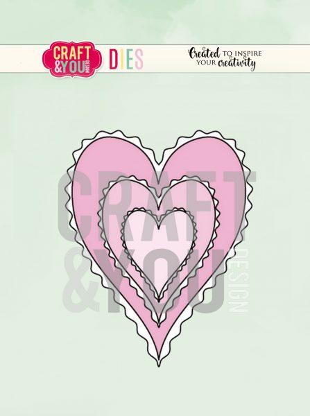 Fustella - Set di cornici a forma di cuore