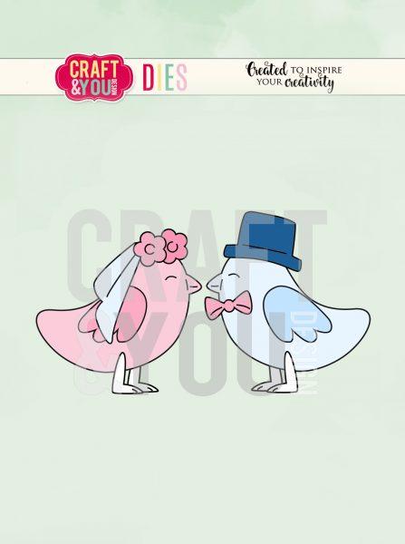 Fustella - Uccellini sposini (Wedding Birds)