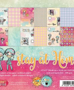 Stay at Home - Blocchetto Cartoncino 12x12