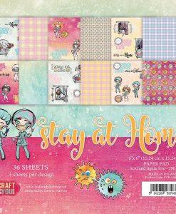"""Stay at Home - Blocchetto Cartoncino 6x6"""" (36 fogli)"""