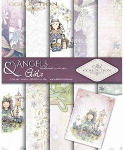 Angels & Girls - Blocchetto Cartoncino A4 (6 fogli)
