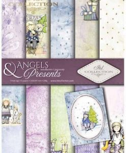 Angels & Presents - Blocchetto Cartoncino A4 (6 fogli)