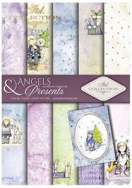 Angels & Presents - Blocchetto Cartoncino A4 (6 fogli)