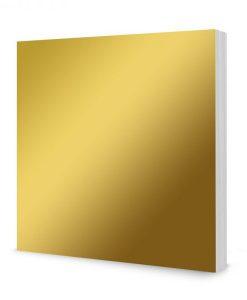 """Cartoncino Lucido Mirri 8""""x8"""" - Colore Oro (50 fogli)"""