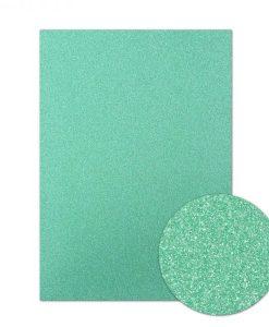 Cartoncino scintillante A4 - Jade Green (verde giada)
