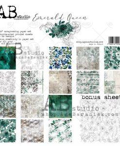 Emerald Queen - Blocchetto Cartoncino 12x12 (8 fogli)