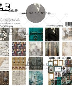 Love for old things - Blocchetto Cartoncino 12x12 (8 fogli)