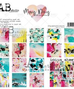 May day - Blocchetto Cartoncino 12x12 (8 fogli)