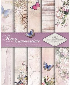 Rosy summertime - Blocchetto Cartoncino A4 (6 fogli)