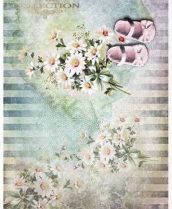 Scarpine rosa - Carta di riso A4