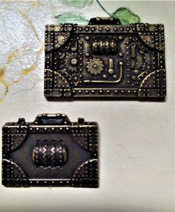Suitcases - abbellimento in metallo (2 pezzi)