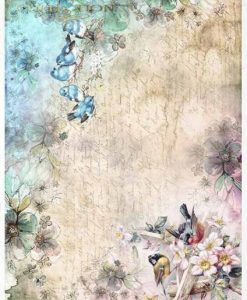 Uccellini - Carta di riso A4