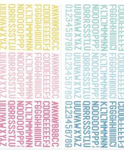 Mini alfabeto puffy - Adesivi (522 pezzi)