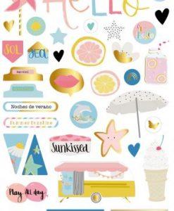 Summer Stories - Adesivi in cartoncino pressato