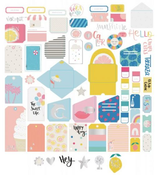 Summer Stories tags e tasche - Die-cuts (64 pezzi)