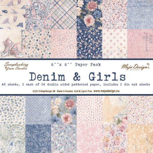 Denim & Girls Maja Design- Cartoncino 6x6 (48 pezzi)