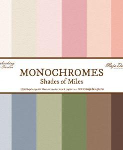 Miles Apart Monochromes Maja Design- Cartoncino 12x12 (12 pezzi)