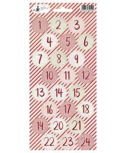 Rosy Cosy Christmas 06 - Foglio di adesivi