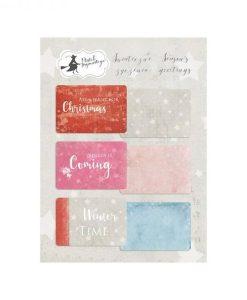 """Season's Greetings - Set di Journaling Cards 6x4"""""""