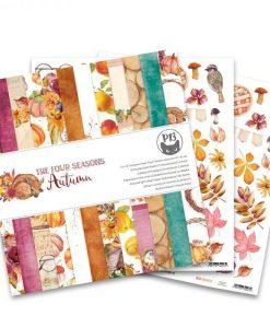 The Four Seasons - Autumn - Blocchetto Cartoncino 12x12 (12 fogli)