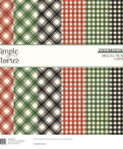 Basic Kit Jingle All the Way Simple Stories - Blocchetto cartoncino 12x12""