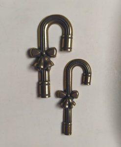 Candy cane 2 - abbellimento in metallo (2 pezzi)