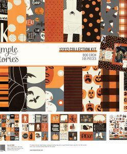 Collection Kit Boo Crew Simple Stories - Blocchetto cartoncino 12x12""
