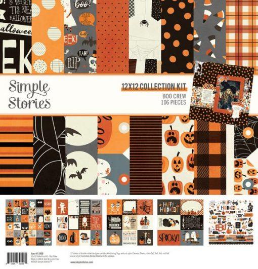 "Collection Kit Boo Crew Simple Stories - Blocchetto cartoncino 12x12"""