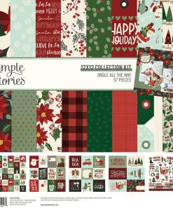 Collection Kit Jingle All the Way Simple Stories - Blocchetto cartoncino 12x12""