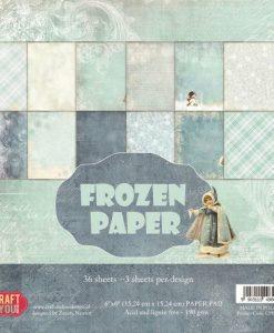 Frozen Paper - Blocchetto Cartoncino 6x6 (36 fogli)