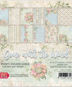 Gone with the Wind Craft & You - Blocchetto Cartoncino 6x6 (24 fogli)