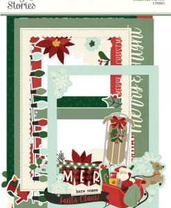 Jingle All the Way Simple Stories - Cornici in chipboard